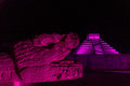 Chichen Itza at Night Royalty Free Stock Photo