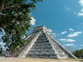 Chichen itza pyramid of kukulcan at the maya site of yucatan mexico Royalty Free Stock Photo
