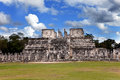 Chichen itza pyramid yucatan mexico cityscape in a sunny day Royalty Free Stock Photography