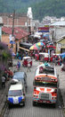 Chichicastenango guatemala view of a street crowded for the weekly market is well known for its Royalty Free Stock Photography