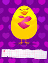 Chick in love Stock Images