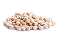 Chick pea isolated heap on the white background Stock Images