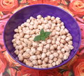 Chick peas some dried in a bowl Royalty Free Stock Image