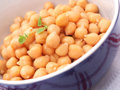 Chick peas some fresh in a bowl Stock Image