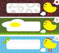 Chicken address labels easter stories vector illustration Stock Photography