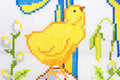 Chicken as embroidered good Stock Images