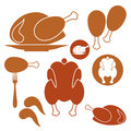 Chicken barbecue grill set isolated objects on white background vector illustration eps Royalty Free Stock Image