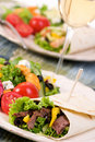 Chicken and Beef Wrap Royalty Free Stock Photo