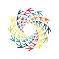 Chicken bird footprint spiral design element
