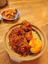 Chicken Biryani cook in claypot Royalty Free Stock Photo