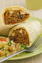 Chicken and Black Bean Burrito Wrap Stock Photos
