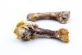 Chicken bones Isolated Royalty Free Stock Photo