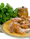 Chicken Bones After Meal Royalty Free Stock Images
