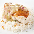 Chicken Breast Fillet with Lemon Thyme Sauce Royalty Free Stock Image