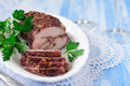 Chicken Breast Fillet Pastrami Royalty Free Stock Photo