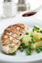 Chicken breast with mashed potato Stock Images