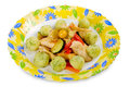 Chicken breast with potato dumplings Royalty Free Stock Photography