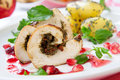 Chicken Breast Roulade Stock Photography