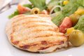 Chicken breast and salad Royalty Free Stock Image