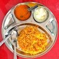 Chicken briyani tamil nadu indian food Royalty Free Stock Photo