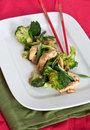 Chicken and broccoli stir-fry Royalty Free Stock Photo