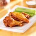Chicken buffalo wings close up Stock Images