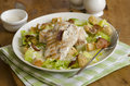 Chicken caesar salad griddled breast with on a plate Royalty Free Stock Photography