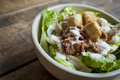 Chicken Caesor Salad bowl Royalty Free Stock Photo