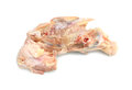Chicken carcass raw isolated on white background Royalty Free Stock Photography