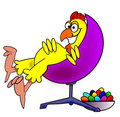 Chicken in chair Stock Image