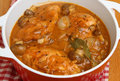 Chicken chasseur casserole classic french Stock Image