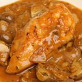 Chicken chasseur or hunter s a traditional french dish Royalty Free Stock Photo