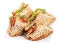 Chicken club sandwich isolated