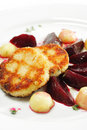 Chicken Confit with Pickled Beet Stock Photos