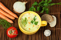 Chicken Cream Soup Stock Image