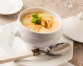 Chicken cream soup Royalty Free Stock Photo