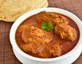 Chicken curry indian dish of with parotha Stock Images