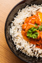 Chicken curry with rice wild Royalty Free Stock Photography