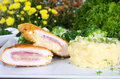 Chicken cutlets Cordon Bleu Stock Images