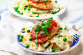 Chicken Cutlets in Pizzaiola Sauce. Royalty Free Stock Photo