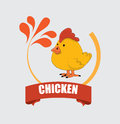 Chicken design over gray background vector illustration Royalty Free Stock Photo