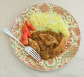 Chicken dhansak from above Royalty Free Stock Photos