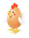 Chicken egg handicraft Stock Images