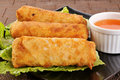 Chicken egg rolls Stock Photos