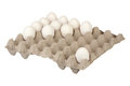 Chicken eggs isolated over white background Royalty Free Stock Image