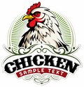 Chicken farm, vector logo.