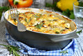 Chicken fillet baked in sour cream sauce. Royalty Free Stock Photo