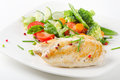 Chicken fillet with vegetables Stock Photography