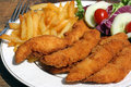 Chicken finger dinner Royalty Free Stock Images
