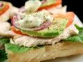 Chicken Finger Sandwich Royalty Free Stock Photo